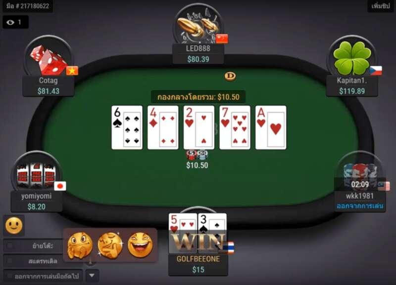 วิธีเล่น Poker กับผู้เล่นหลายคน